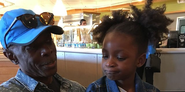 8-year-old Peyton and her great-uncle, Ricardo.