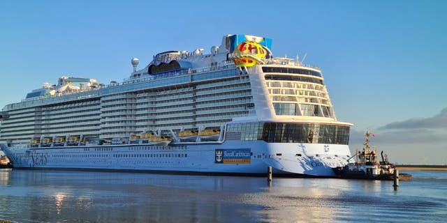 """The Odyssey of the Seas, pictured, will depart Israel in May as the first """"fully vaccinated"""" cruise ship amid the global pandemic, says Royal Caribbean."""