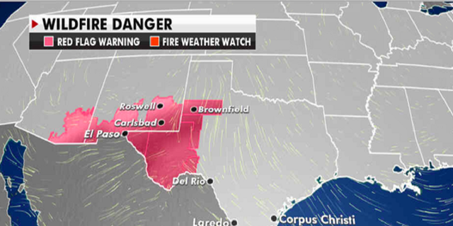 Current risk of wildfires. (Fox News)
