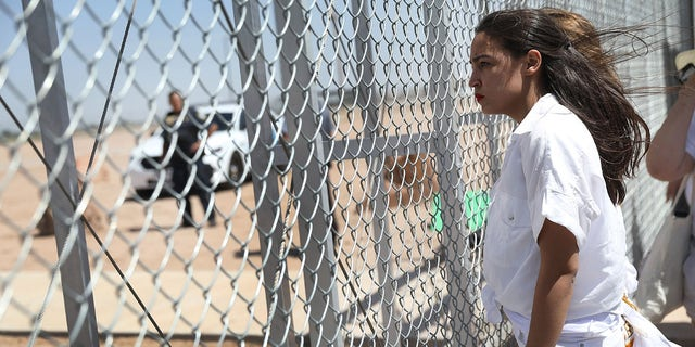 "Rep. Alexandria Ocasio-Cortez, D-N.Y., feels calling the influx of migrants along the southern border a ""surge"" pushes White supremacy. (Photo by Joe Raedle/Getty Images)"
