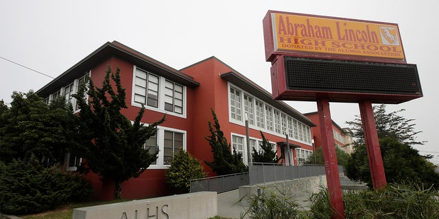Abraham Lincoln High School in San Francisco is seen March 12, 2020. (Associated Press)