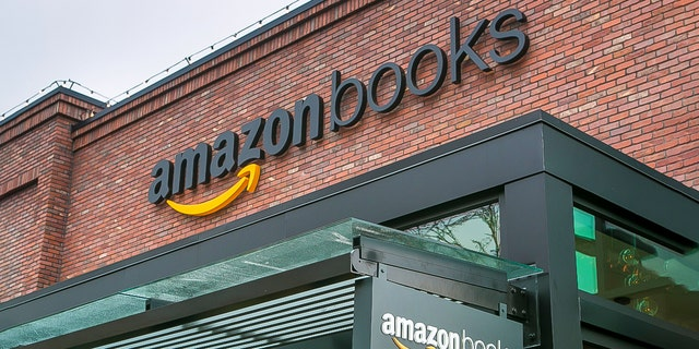 """Online giant, Amazon.com, has opened its first """"brick and mortar"""" retail bookstore as viewed on Nov. 5, 2015, in Seattle, Washington. (Photo by George Rose/Getty Images)"""