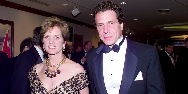 Andrew Cuomo and then-wife Kerry Kennedy Cuomo attend the White House Correspondents' Association annual dinner at the Washington Hilton Hotel in Washington, DC, May 1, 1999. (Getty Images)