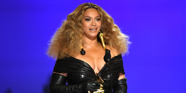 Beyoncé became the most decorated female act in Grammy Awards history on Sunday.  (Photo by Kevin Winter / Getty Images for The Recording Academy)