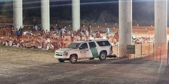 FOX News has exclusively obtained two photos showing a US Border Patrol temporary outdoor processing site in Mission, TX in the Rio Grande Valley Sector.