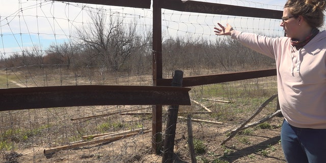 In the last month, cars have driven over fivefences on Emily King's property. (KATIE BYRNE / FOX NEWS)