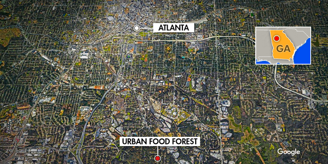 A map that shows that the Thomasville Heights and Browns Mill area is, just south of Atlanta. (Source/FNC Jayla Whitfield)