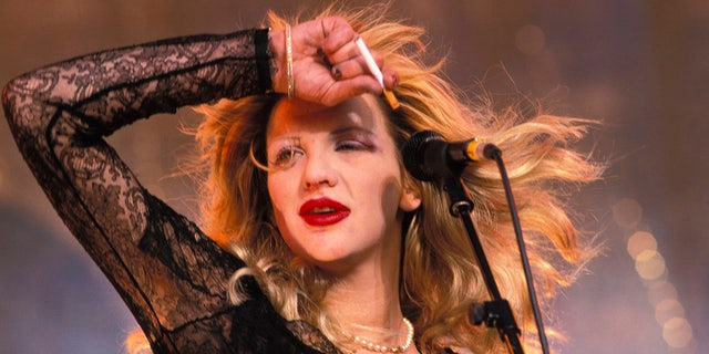 Courtney Love has famously struggled with addiction throughout her life. (Photo by Mick Hutson/Redferns)