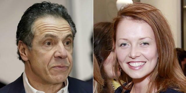 New York Gov. Andrew Cuomo and accuser Lindsey Boylan.