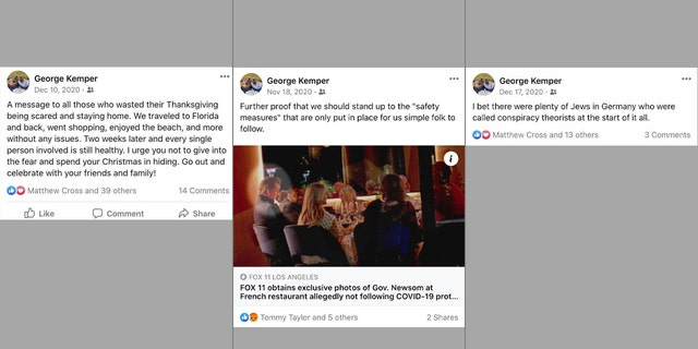 George Kemper Facebook posts