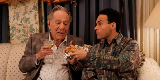 George Segal and Troy Gentile in 'The Goldbergs.' (Lisa Rose/ABC via Getty Images)