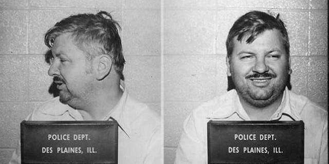 Serial killer John Wayne Gacy posed for the above Des Plaines Police Department mug shot in December 1978.