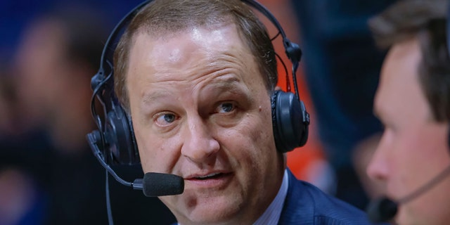 ESPN broadcaster Dan Dakich is seen during the Illinois Fighting Illini and Michigan State Spartans game at State Farm Center on February 5, 2019, in Champaign, Illinois. (Photo by Michael Hickey/Getty Images)