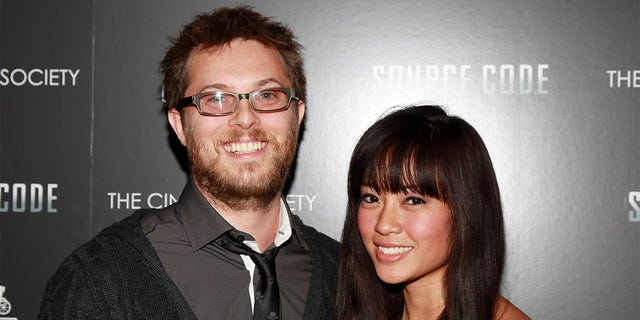 Director Duncan Jones and Rodene Ronquillo, circa 2011.