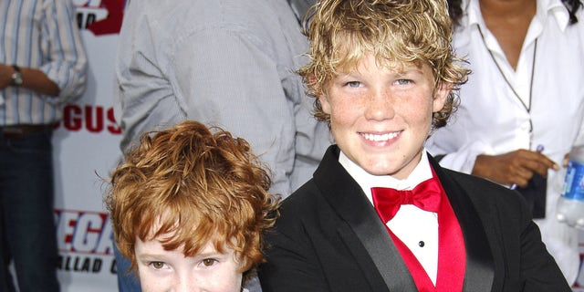 Grayson Russell and Houston Tumlin, right, during the 'Talladega Nights: The Ballad of Ricky Bobby' movie premiere. The duo played on-screen brothers in the film. (Photo by SGranitz/WireImage)