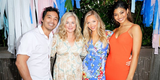 (L-R): Yu Tsai, MJ Day, Camille Kostek and Danielle Herrington attend the Sports Illustrated Swimsuit 2019 Model Search Open Casting Call During Miami Swim Week - Day 1 at the W Hotel on July 12, 2019, in Miami, Florida.