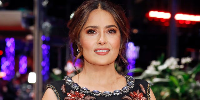 Salma Hayek was 'begged' by her doctor to visit the hospital during her near-fatal battle with coronavirus, she revealed. (P. Lehman/Barcroft Media via Getty Images)