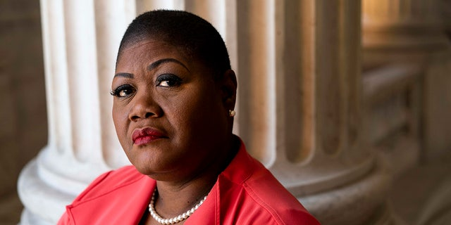 Political activists Melanie Campbell who heads the Black Women's Roundtable, a collection of black women activists across America, on Capitol Hill in the Russell Senate office building rotunda in Washington DC on Friday August 30, 2019. (Photo by Melina Mara/The Washington Post via Getty Images)