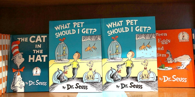 "CORAL GABLES, FL - JULY 28: Dr. Seuss' never-before-published book, ""What Pet Should I Get?"" is seen on display. (Photo by Joe Raedle/Getty Images)"