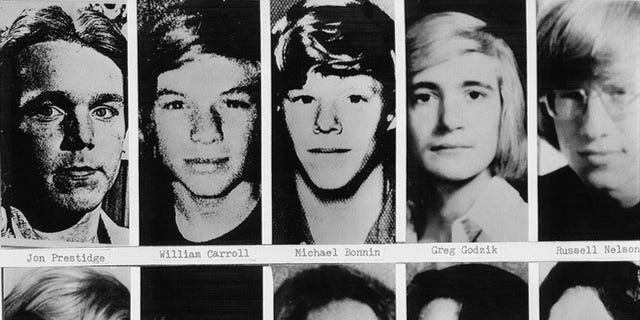 Shown are headshots of boys and young men whose bodies have been definitely identified as the victims of John Wayne Gacy.