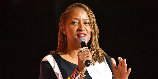 Then-California state Sen. Holly Mitchell speaks on stage at 2019 ESSENCE Festival Presented By Coca-Cola at Ernest N. Morial Convention Center on July 06, 2019 in New Orleans, Louisiana. (Photo by Paras Griffin/Getty Images for ESSENCE)