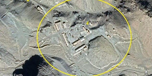 NCRI images of what it says was a now-scrubbed nuclear site.