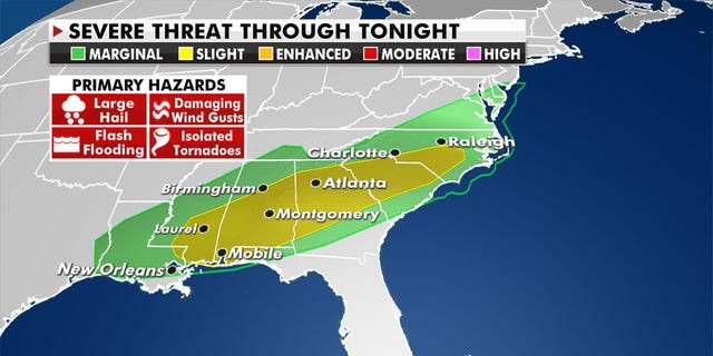 Severe weather including heavy rainfall will hit already saturated areas. (Fox News)