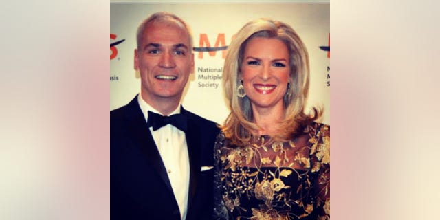 Janice Dean and her husband Sean in an undated photo at a National Multiple Sclerosis Society event.
