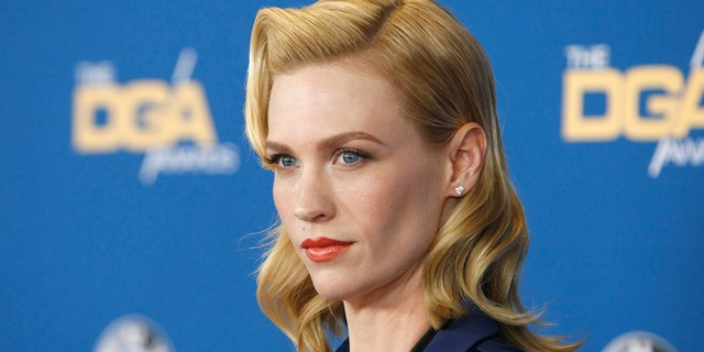 January Jones posed topless for a funny post on Instagram. (Photo by David Buchan/Getty Images)