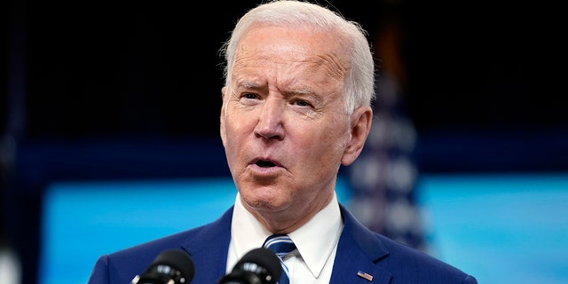 President Biden speaks during an event on COVID-19 vaccinations and the response to the pandemic, in the South Court Auditorium on the White House campus, Monday, March 29, 2021, in Washington. (AP Photo/Evan Vucci)