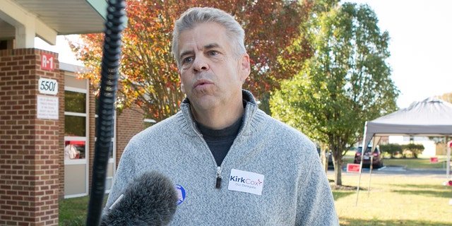 RICHMOND, VA - November 5: Speaker of the House Kirk Cox talks to members of the media after voting at Tussing Elementary School Tuesday, November 5, 2019 in Colonial Heights, Va. (Photo by Julia Rendleman for The Washington Post via Getty Images)