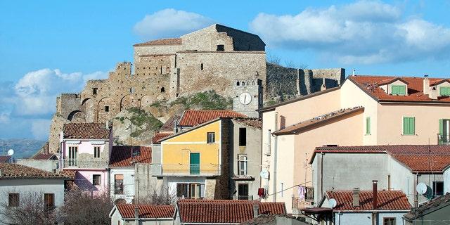 The Laurenzana castle in Laurenzana, Italy.