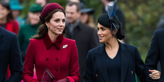 Meghan Markle (right) revealed that the media had misreported a row that took place between herself and Kate Middleton (left). (Photo by Samir Hussein/WireImage)