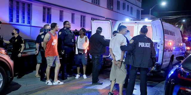 Officials said police have made over 1,000 arrests between Feb. 3 and March 21. (Pedro Portal/Miami Herald via AP)