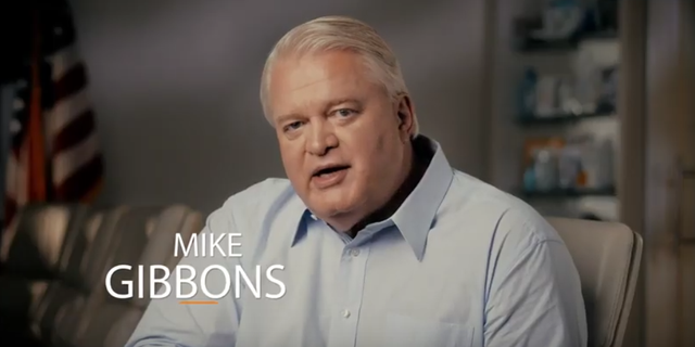 Photo of Mike Gibbons, from a campaign video in March 2021 as he explores a formal GOP campaign for the U.S. Senate in Ohio in 2022.
