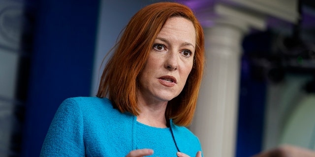 White House press secretary Jen Psaki speaks during a press briefing at the White House, Monday, March 22, 2021, in Washington. Psaki Friday defended controversial comments made by U.N. Ambassador Linda Thomas-Greenfield. (AP Photo/Evan Vucci)