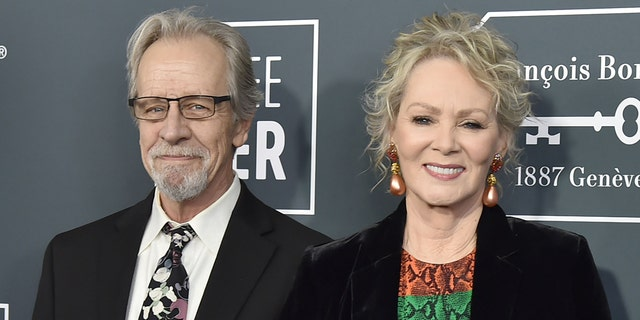 Richard Gilliland and Jean Smart during the arrivals for the 25th Annual Critics' Choice Awards at Barker Hangar on January 12, 2020.