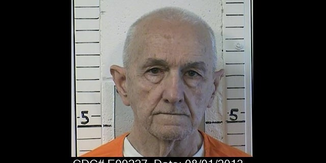 This photo provided by the California Department of Correction and Rehabilitation shows inmate Roger Reece Kibbe, 81. (CDCR via AP)