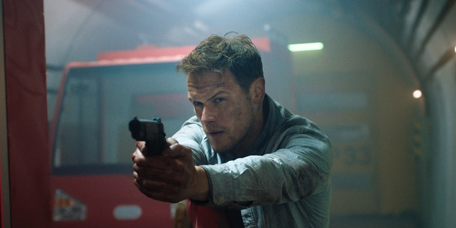 Sam Heughan plays a SAS operator who thwarts the mercenary's plan.