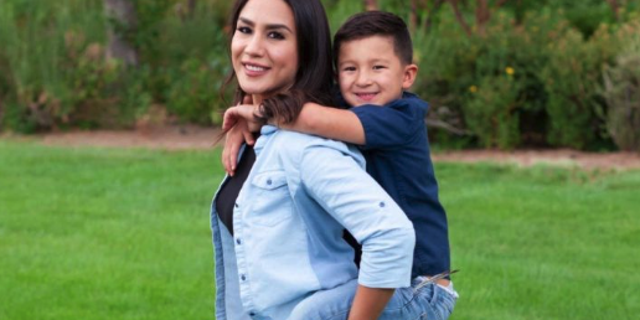 Pamela Cabriales with her son, Leo (GoFundMe)