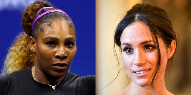 Meghan Markle (right), a tennis fan, is friends with Serena Williams (left)