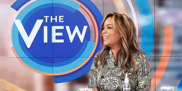 """""""The View"""" co-host Sunny Hostin. Photo by Lou Rocco/ABC via Getty Images)"""