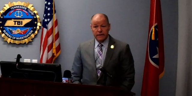 Tennessee Bureau of Investigation Director David Rausch speaks during a joint news briefing Wednesday, detailing