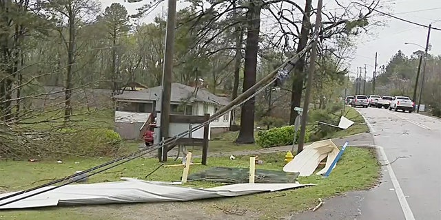 Heavy storm damage in Alabaster Alabama