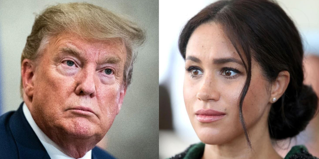 Former U.S. President Donald Trump and Meghan, Duchess of Sussex.