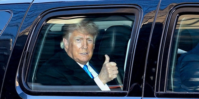 NEW YORK, NY - MARCH 09: Former U.S. President Donald Trump leaves Trump Tower in Manhattan on March 9, 2021 in New York City.