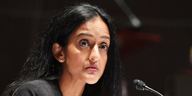 Vanita Gupta, Leadership Conference for Civil Rights president and chief executive officer, testifies before a House Judiciary Committee hearing in Washington, D.C., U.S., on Wednesday, June 10, 2020. (Photographer: Mandel Ngan/AFP/Bloomberg via Getty Images)