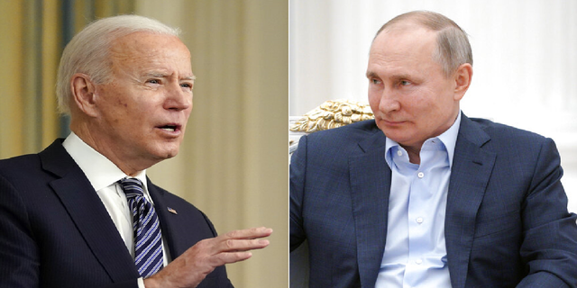 """President Biden, when asked if he thinks Russian President Vladimir Putin is a """"killer,"""" during a recent interview, said yes. (AP)"""