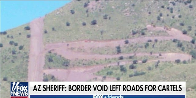 Sheriff Mark Dannels said 5-6 groups cross daily where fencing incomplete on the Arizona border.