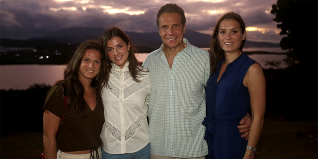 Gov. Andrew Cuomo in Puerto Rico with his daughters Mariah, Cara and Michaela on Nov. 29, 2019.